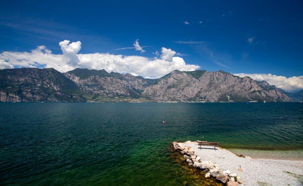 Garda lake in summer